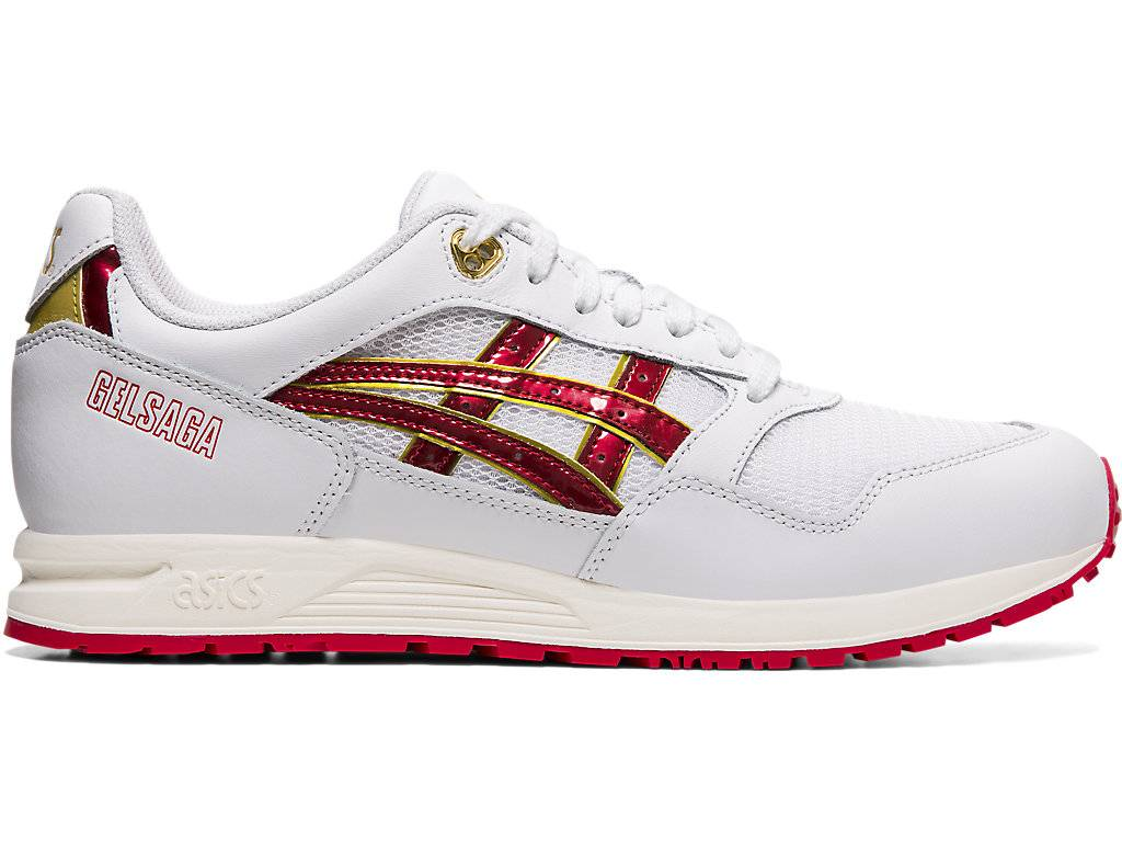 ASICS Gelsaga White / Speed Red Male Size 3