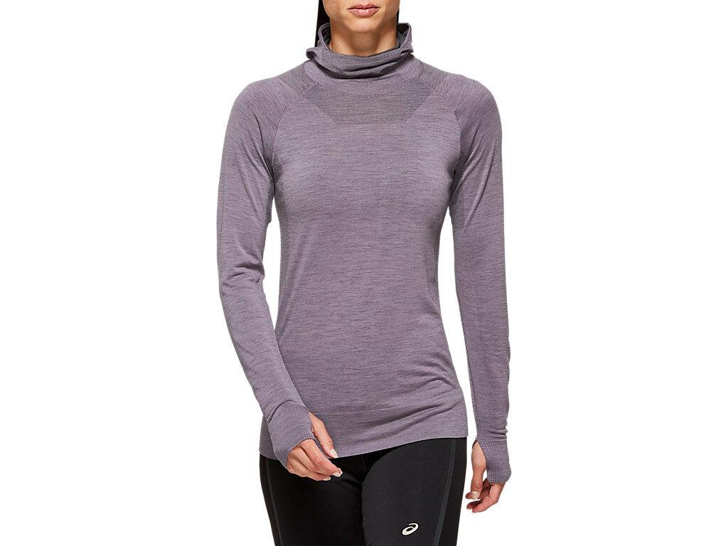 ASICS Metarun Ls Top Lavender Grey FeMale Size S