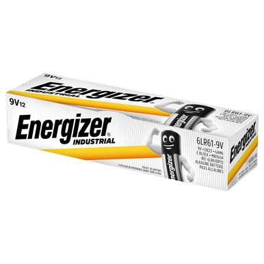 Energizer Industrial 9V PP3 6LR61 Batteries   Box of 12