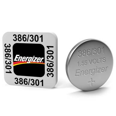 Energizer 386 / 301 LR43 SR43SW Watch Battery   1 Pack