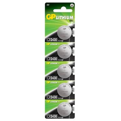 GP CR2430 Coin Cell Batteries   5 Pack
