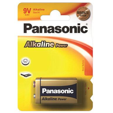 Panasonic Alkaline Power (Bronze) 9V PP3 6LR61 Battery   1 Pack