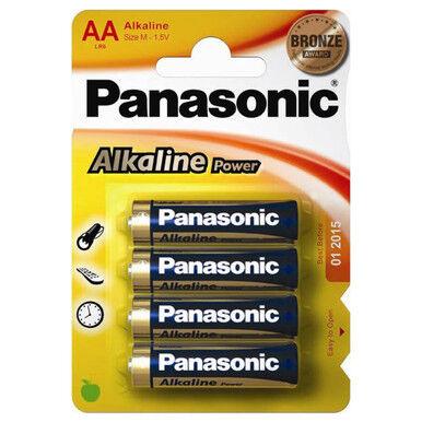 Panasonic Alkaline Power (Bronze)  AA LR6 Batteries   4 Pack