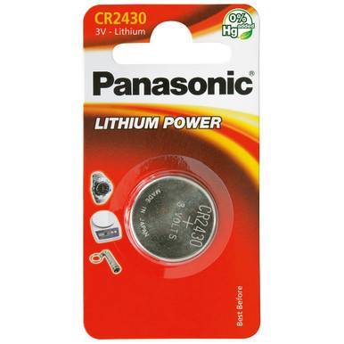 Panasonic CR2430 Coin Cell Battery   1 Pack