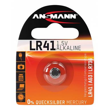 Ansmann LR41 Alkaline Battery   1 Pack