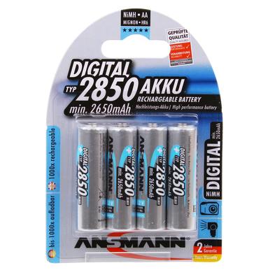 Ansmann Digital AA HR6 2850mAh Rechargeable Batteries   4 Pack
