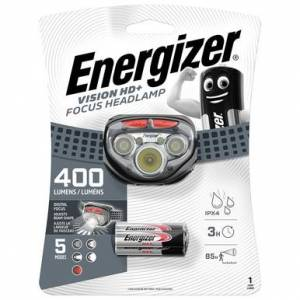 Energizer Vision HD+ Focus LED Headlight   400 Lumens   Batteries Included