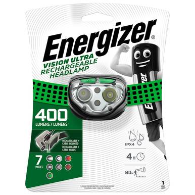 Energizer Vision Ultra HD Rechargeable Headlight   400 Lumens