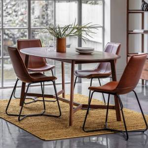 HJ Home Maddison 180cm Dark Oak Oval Dining Table