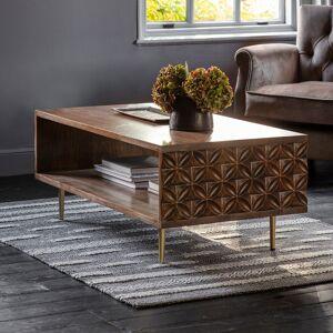 HJ Home Kandy Dark Acacia Wood Coffee Table