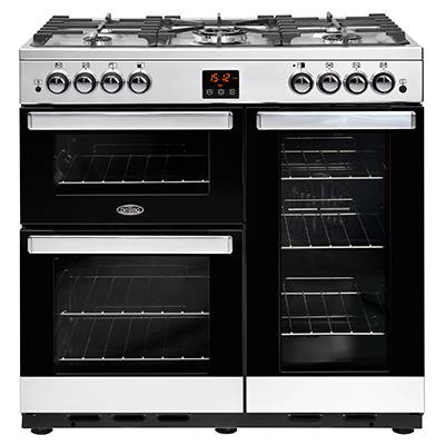 Belling 444444076 CookCentre 90cm Gas Range Cooker - Stainless Steel