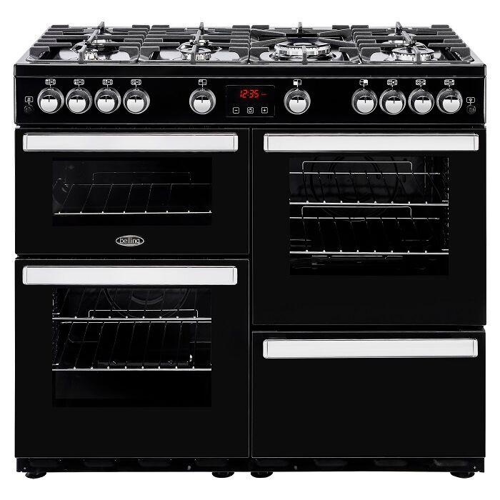 Belling 444444089 CookCentre 100cm Gas Range Cooker - Black