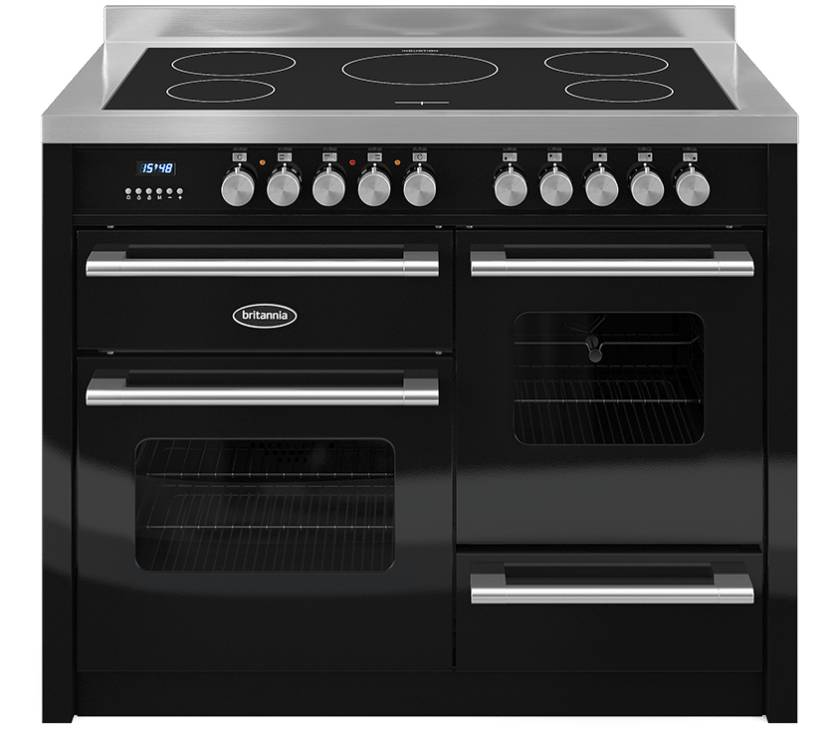 Britannia 544440247 Delphi 110cm Induction Range Cooker - Gloss Black