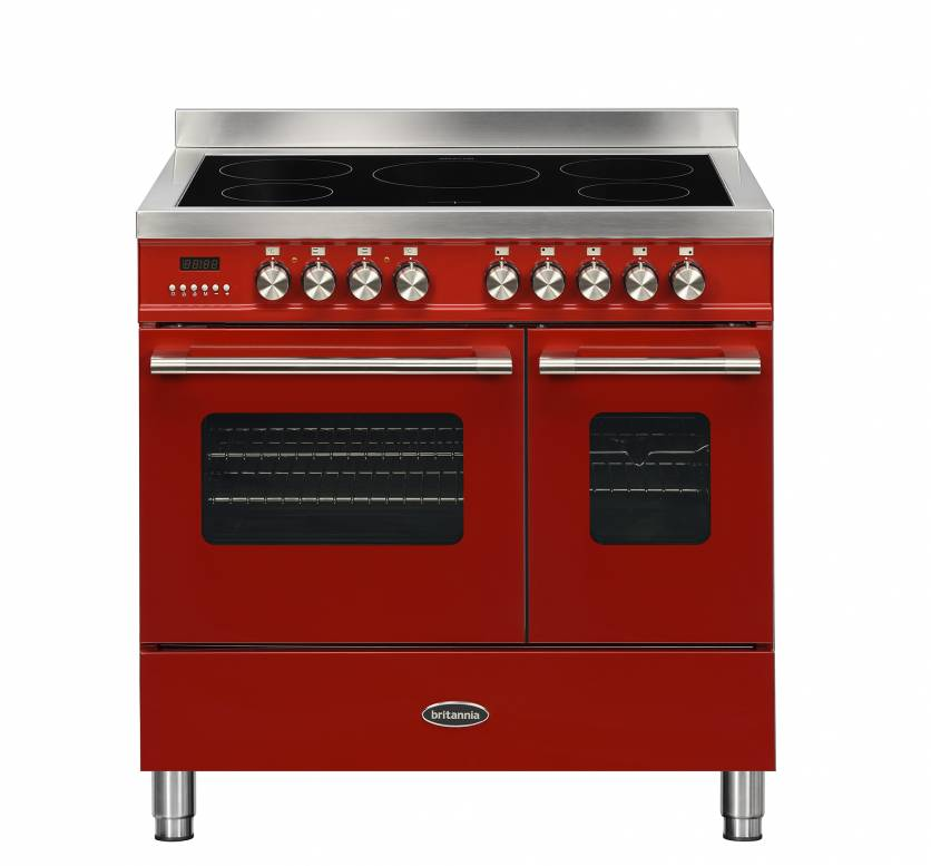 Britannia 544440748 Delphi 90cm Induction Range Cooker - Red
