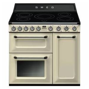 Smeg TR93IP Victoria 90cm Electric Induction Range Cooker - Cream