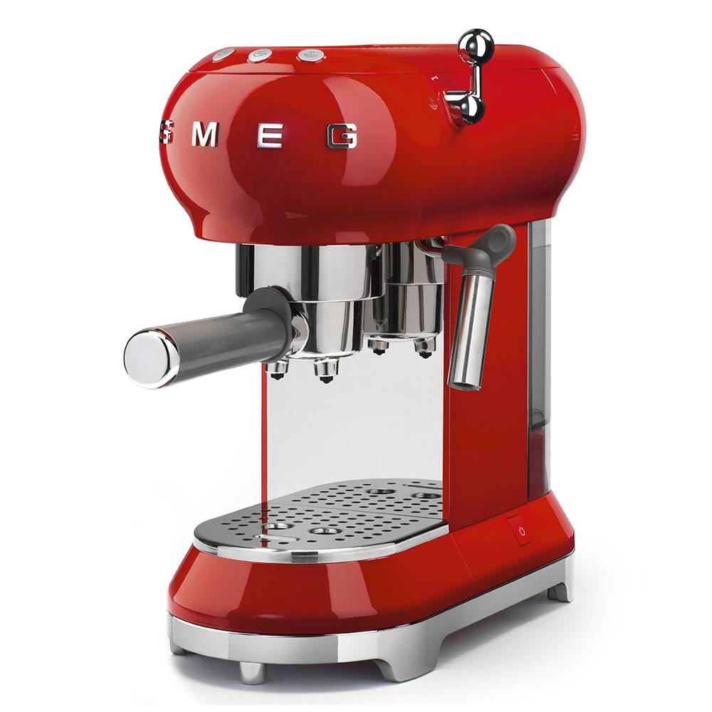 Smeg ECF01RDUK 50's Retro Style Espresso Coffee Machine