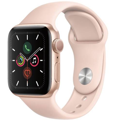 Apple Watch Series 5 GPS Model (Brand New), 40MM / Pink Sand Sports Band with Gold Aluminum Case