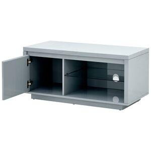Alaska High Gloss LED TV Unit   Grey   Self Assembly