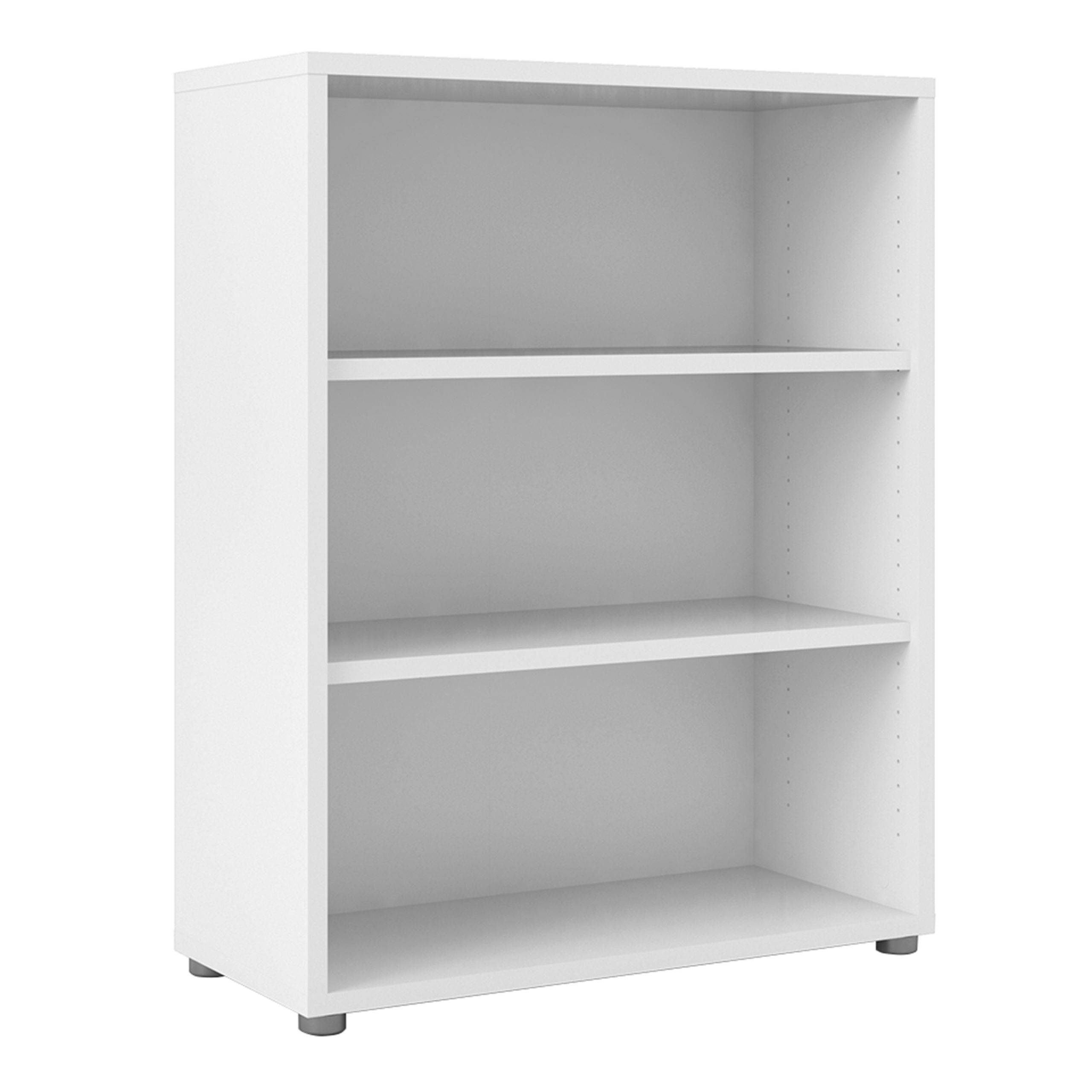 Kansas Bookcase Collection Bookcase 2 Shelves in White   Self Assembly