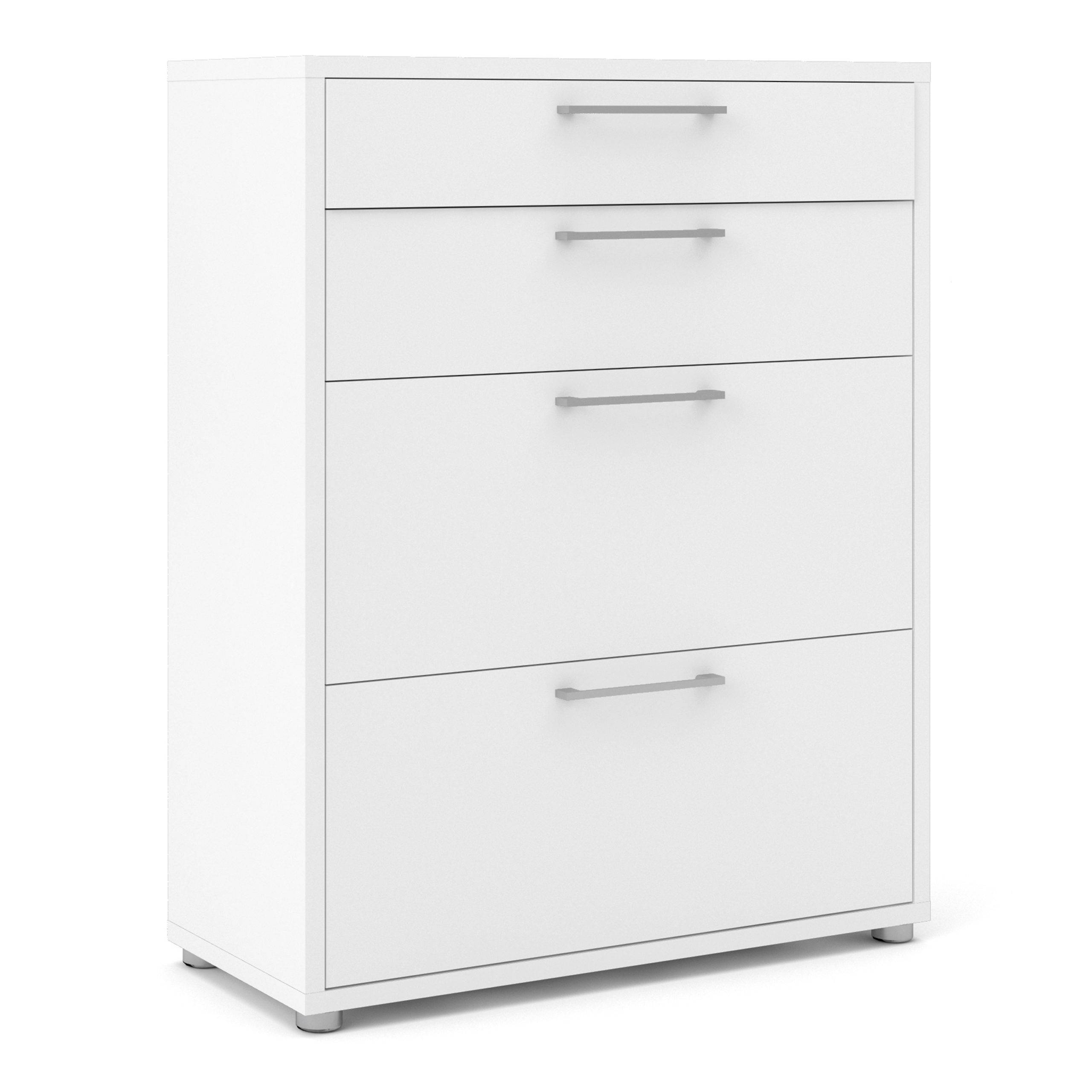 Kansas Office Storage with 2 Drawers + 2 File Drawers in White   Self Assembly
