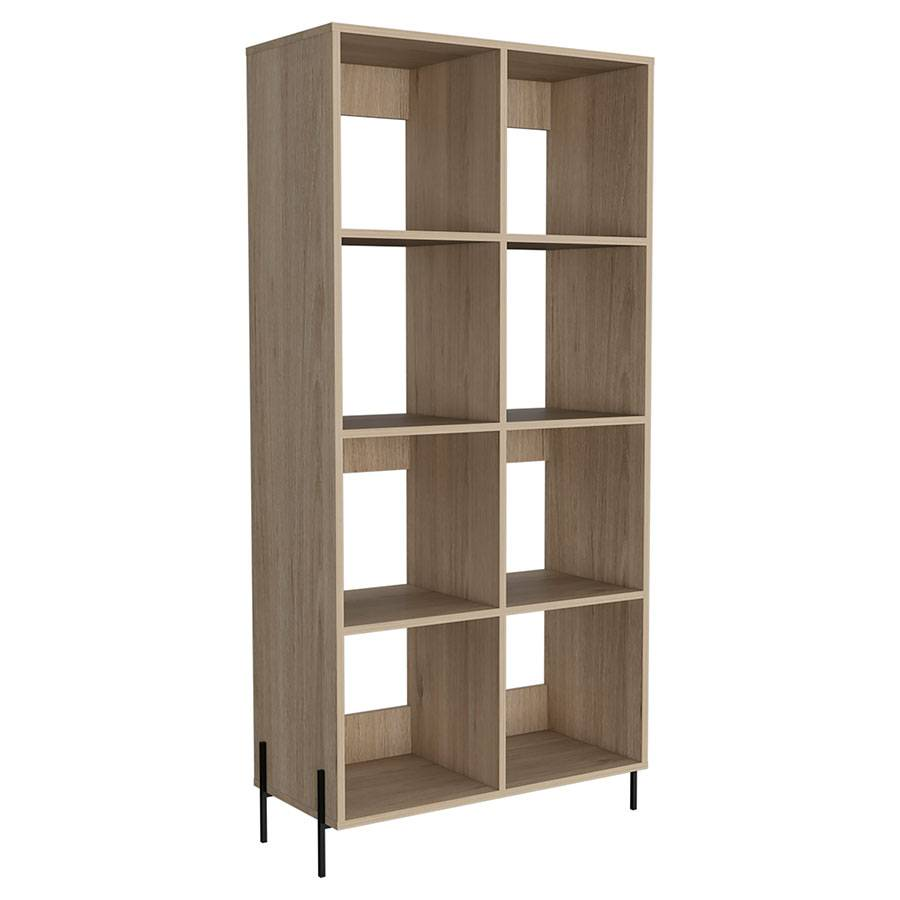 Oxford Wide Bookcase   Washed Oak   Self Assembly