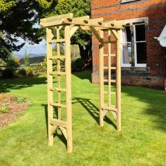 Timber Garden Furniture Timber Rose Arch   4ft