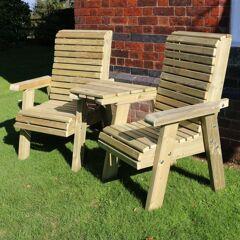 Timber Garden Furniture Timber Ergo Garden Love Seat
