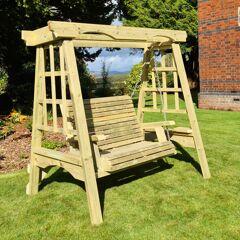 Timber Garden Furniture Timber Cottage Garden Swing   2 Seat