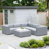 Toft Outdoor Fabric Corner Sofa Set with Footstool
