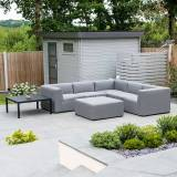Toft Outdoor Fabric Corner Sofa Set with Coffee Table & Footstool