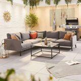 Bliss Outdoor Fabric Corner Sofa Set   Coffee Table