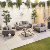 Tranquility Outdoor Fabric Sofa Set   2 Seater   Light Grey