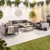Infinity Outdoor Fabric Sofa Set   Light Grey