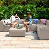 Maze Apollo Outdoor Fabric Large Corner Sofa Group   Taupe