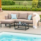 Maze Pulse Outdoor Fabric Chaise Sofa Set   Taupe