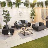 Tranquility Outdoor Fabric Sofa Set   Dark Grey