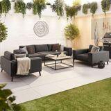 Infinity Outdoor Fabric Sofa Set   Dark Grey