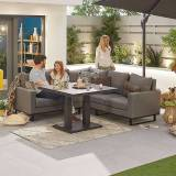 Eclipse Compact Eclipse Garden Corner Dining Set with Rising Table   Light Grey