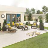 Enna Outdoor 2 Seat Sofa Set   Grey