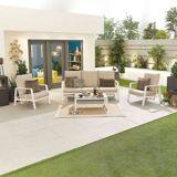 Enna Outdoor 3 Seat Sofa Set   White