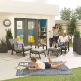 Enna Outdoor 5 Piece Lounge Set   Grey