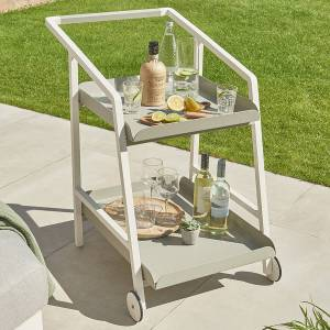 Leisure Titchwell Outdoor Fabric Drinks Trolley White