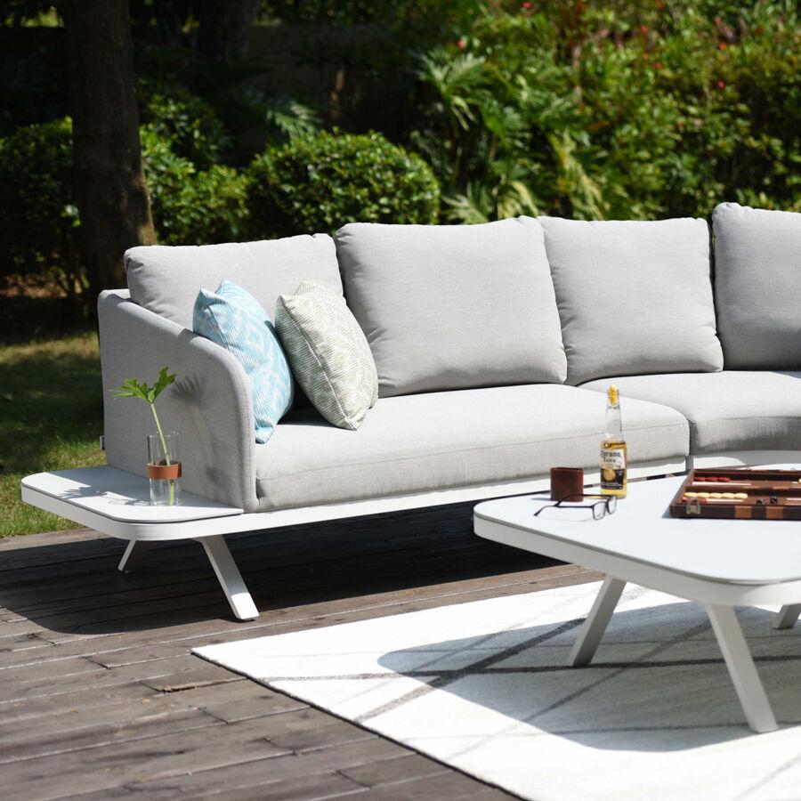 Maze Rattan Outdoor Fabric Cove Corner Sofa Group   Lead Chine