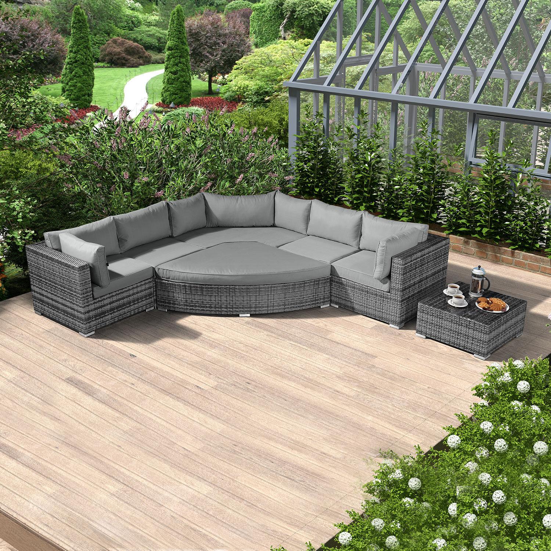 Oakworld Alfresco Hampton Deluxe Corner Sofa Set   Grey