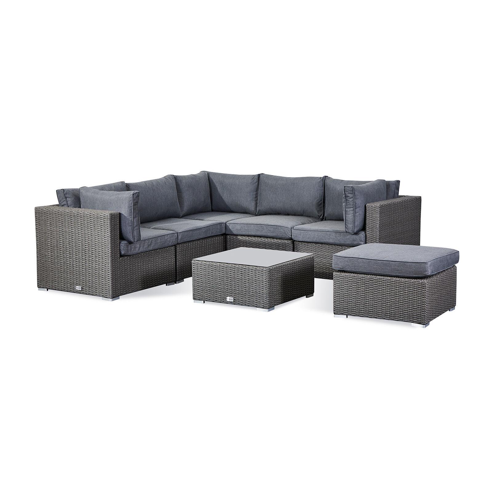 Oakworld Alfresco Heritage Chelsea Corner Sofa Set   Slate Grey