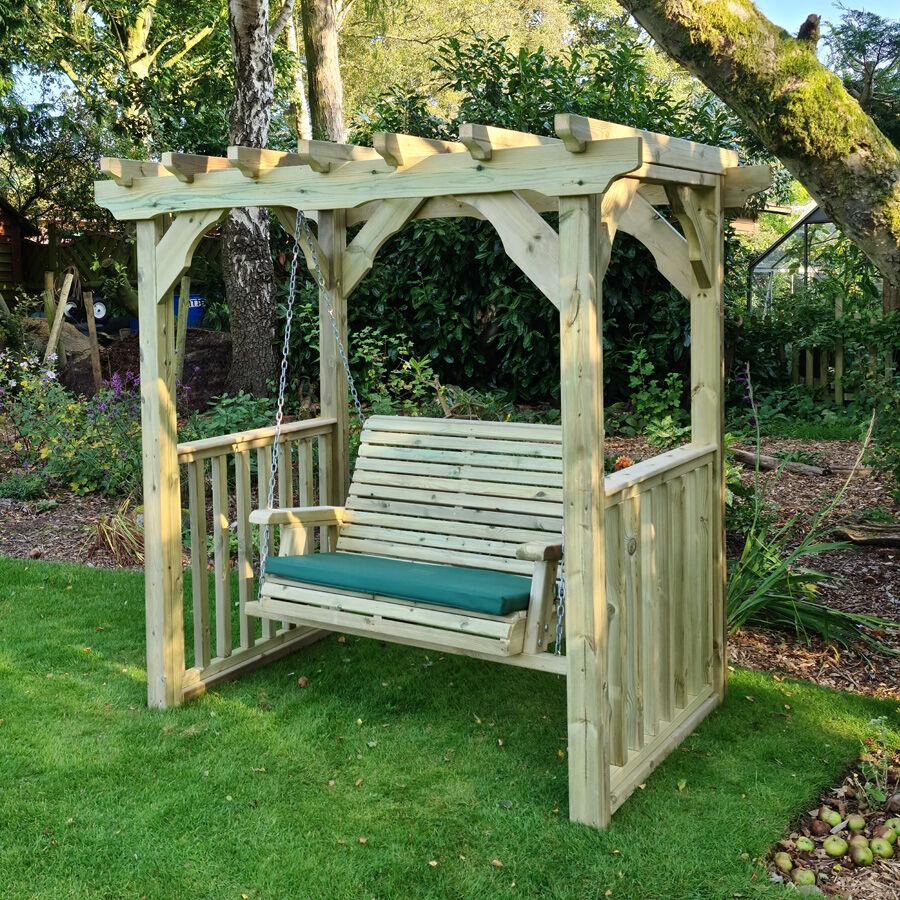 Timber Garden Furniture Timber Ophelia Swing   2 Seat