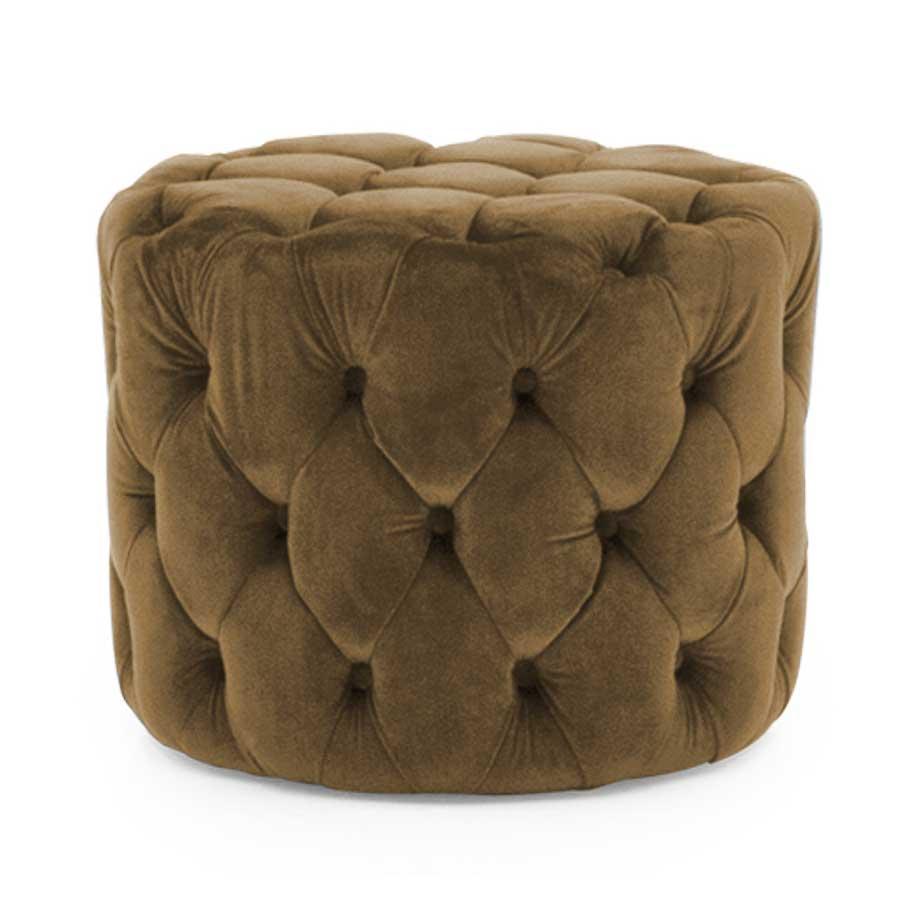 Soft Furnishings Perkins Footstool   Velvet Cedar   Fully Assembled