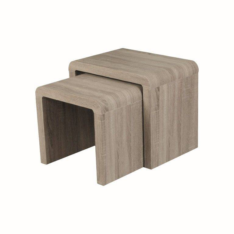 Trend Furniture Trend Dark Oak Effect Nest Of Tables