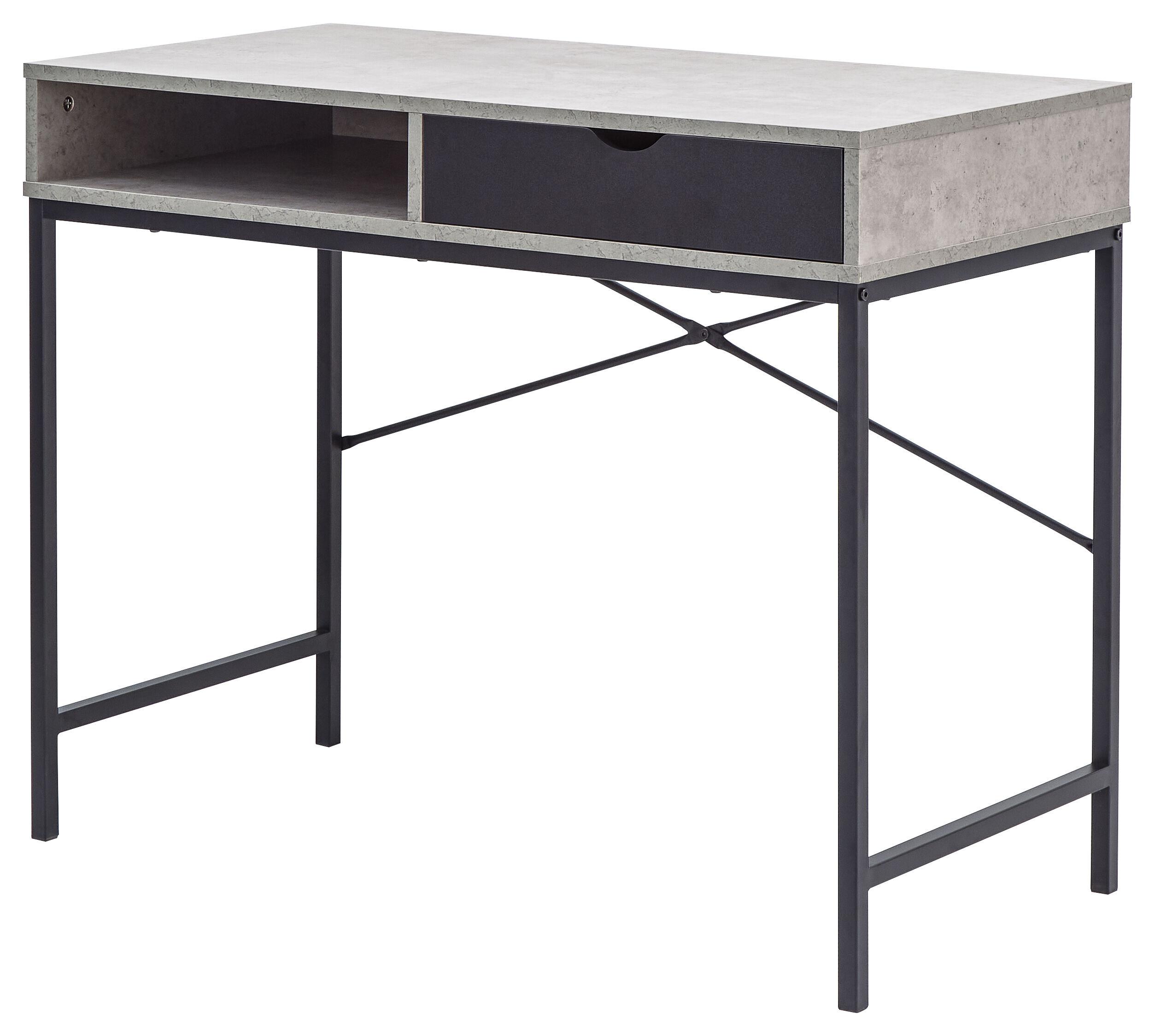 Chester Computer Desk    Concrete   Black   Self Assembly