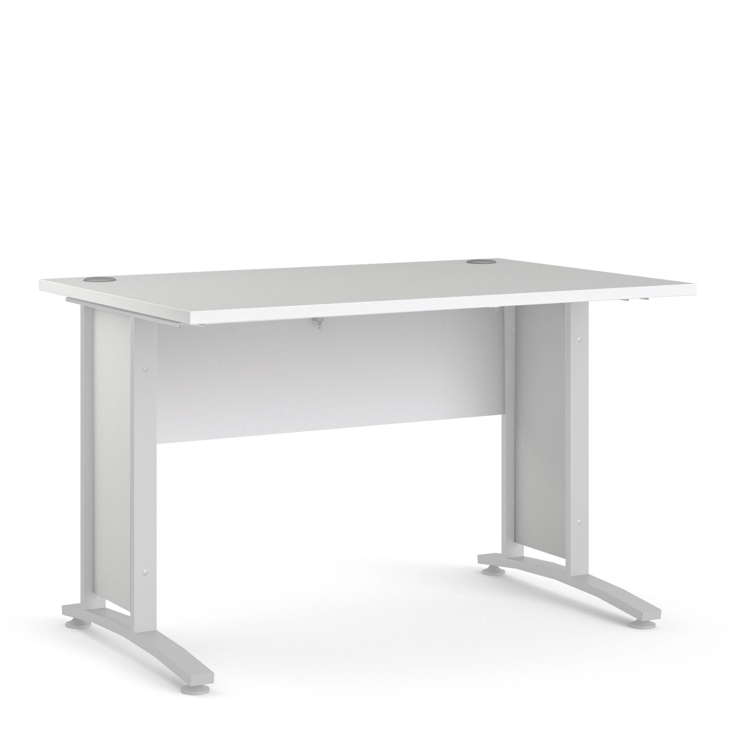 Kansas Desk 120 cm in White with White Legs   Self Assembly